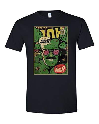 (Stan LEE Hulk Comic Book T Shirt, Avengers Parody (Black 5X))