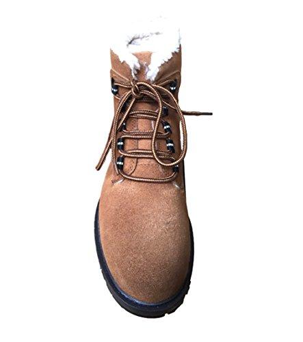 Bottes Chaud À Traders Confortable Lacets Sherpa Trekking Cotton De Avec Chaussures Marche Grip Semelle Chape Unisexe Doublé Randonnée Pk8n0wO