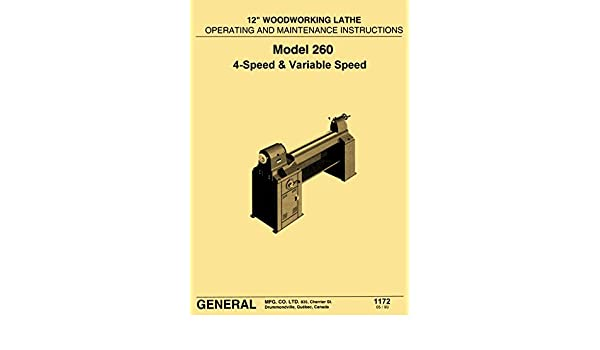 Woodworking Manuals & Books General Model 260 12″ Variable Speed ...