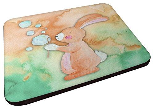 - Caroline's Treasures BB7349FC Rabbit and Bubbles Watercolor Decorative coasters 3.5 Multicolor