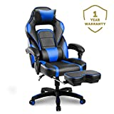 Merax Racing Gaming Chair with Footrest | Ergonomic Office Reclining Chair for Computer Gamers PC Racer, High Back Large Home Desk Chairs Executive with Adjustable Armrest and Comfortable Seat Adults