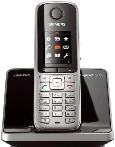 Gigaset S790 - Teléfono fijo inalámbrico DECT, color plateado: Amazon.es: Electrónica