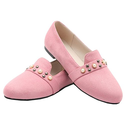 SJJH Flats with 4-Colors and Large Size from 0-13 UK Available Comfortable Flats for Ladies Pink Bvu3xbuD