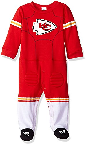 (NFL Kansas City Chiefs Unisex-Baby Footysuit Coverall, Red, 3-6 Months)