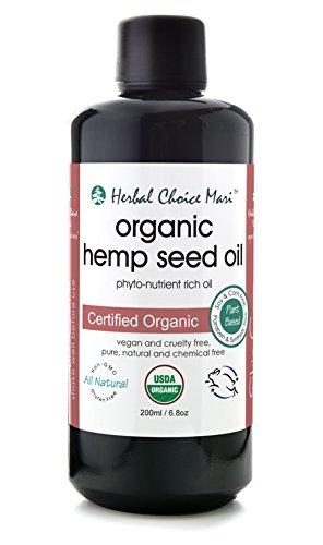Herbal Choice Mari Organic Hemp Seed Oil 200ml/6.8oz