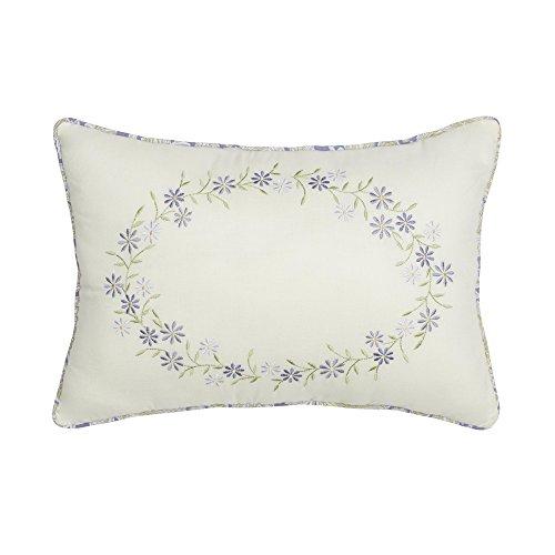 Nostalgia Home 028828369079 Decorative Pillow, 14 W x 20 L, Ivory Lilac