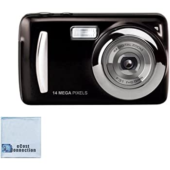 """14MP Megapixel Compact Digital Camera and Video with 2.4"""" Screen with Easy Editing Software CD & eCostConnection Microfiber Cloth"""