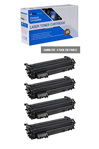 Inksters Compatible Black Toner Cartridge Replacement for Canon 120/2617B001AA - Compatible with ImageCLASS D1120 D1150 D1170 D1180 D1320 D1350 D1373 (4 Pack) ()