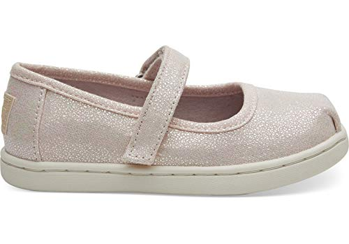 TOMS Kids Baby Girl's Mary Jane (Toddler/Little Kid) Pink Iridescent Droplets 6 M US Toddler -