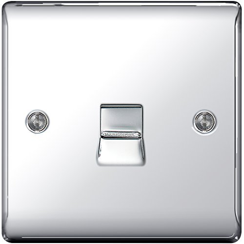 BG Electrical NPCBTM1 Nexus Metal Polished Chrome Single BT Master Telephone Socket c/w IDC Terminals by BG Electrical Nexus -
