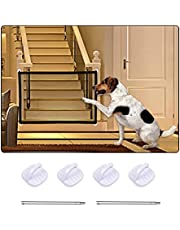Pet Gate, Pet Safety Guard Mesh Dog Gate, Portable Folding Mesh Safety Dog Gate for Doorways, Stairways, Hallways, Easy to Install (43.3 x 28.5in)