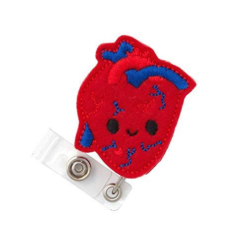 Anatomical Heart Badge Reel (Belt Clip)