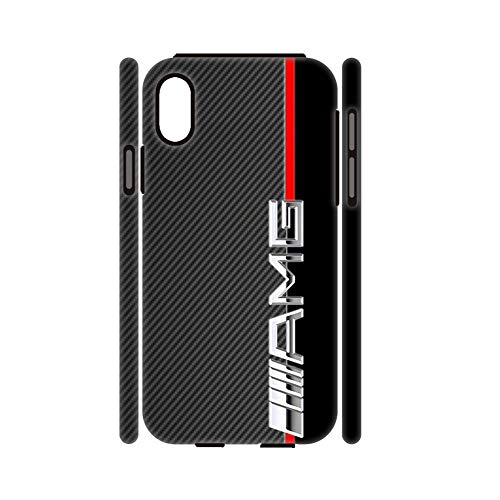 Silica Gel Case - Fashionable Rigid Plastic and Silica Gel Phone Case Children Use On Apple X Xs iPhone Print with Amg