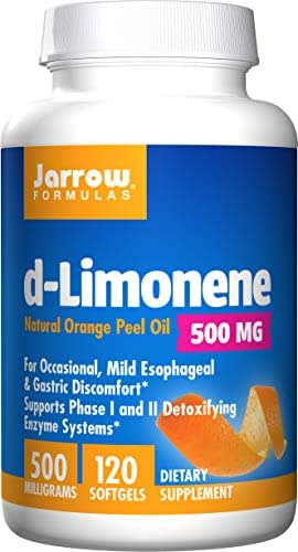 Jarrow Formulas D-Limonene, Stimulates Phase I and Phase II Detoxifying Enzyme Systems As Well As the Overall Immune System*, 500 mg, 120 Softgels (Pack of 2)