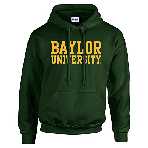 - Baylor Bears Basic Block Hoodie - Large - Forest Green