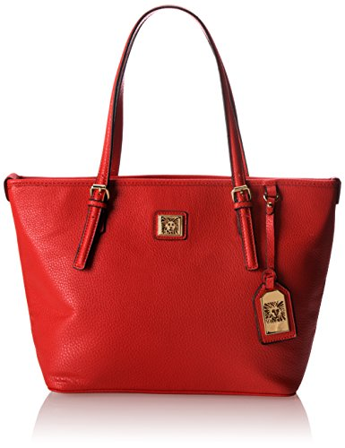 Anne Klein Perfect Medium Tote, Fire Red