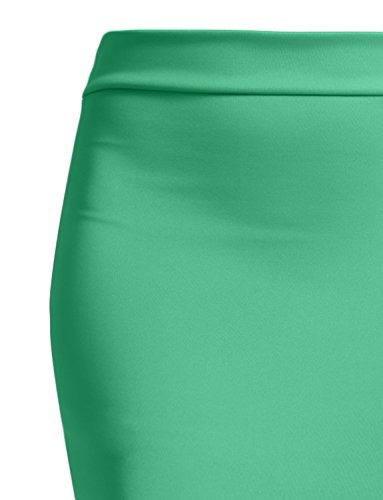 NE PEOPLE Women's Stretch Knit Bodycon Mini Pencil Skirt Made In USA by NE PEOPLE (Image #2)