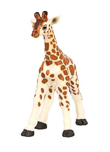 Safari Wildlife Giraffe (Safari Ltd Wild Safari Wildlife – Giraffe Baby – Realistic Hand Painted Toy Figurine Model – Quality Construction from Safe and BPA Free Materials – For Ages 3 and Up)