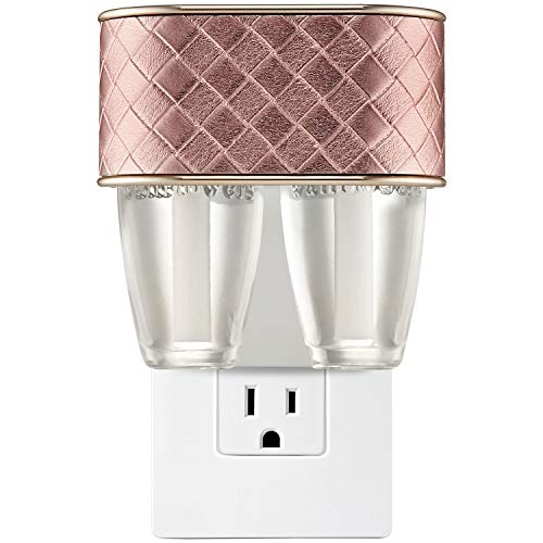 Bath and Body Works QUILTED ROSE GOLD NIGHTLIGHT Scent Switching Wallflowers Duo Plug