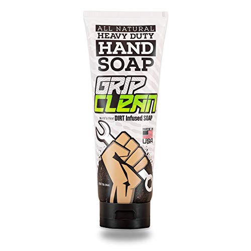 - Grip Clean | Heavy Duty Hand Cleaner - Dirt Infused & All Natural Industrial Strength Soap (10oz)