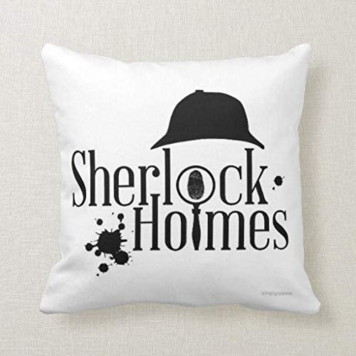 Pillow Sherlock Holmes Square Pillow Decorative Pillow For Home Sofa Couch Bedroom Car 14x14 Inch watson London Baker Street 221b Benedict Cumberbatch