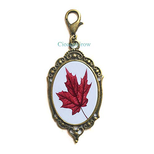 Maple Leaf Zipper Pull,Maple Leaf Lobster Clasp,Maple Leaf,Wedding Jewelry,Grad Gift,Wedding Zipper Pull,Maple Leaf,HO0E284 -