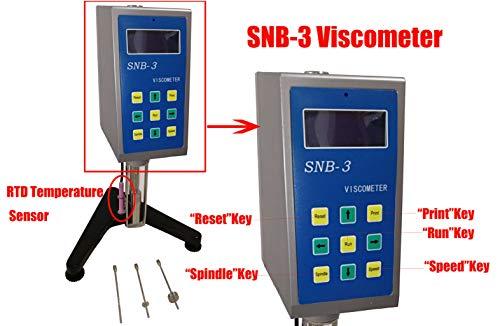 HFBTE SNB-3 Viscometer Rotational Viscosity Meter Tester Gauge with RTD Temperature Sensor 160~80000000mPa·s Measurement Range