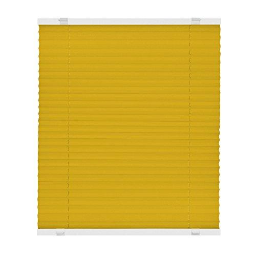 VICTORIA M Plissee Klemmfix ohne Bohren - EasyFix Größe: 70 x 150 cm, Farbe: gelb