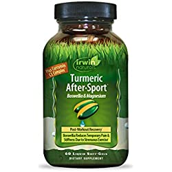 Irwin Naturals Turmeric After Sports Supplement, 60 Count