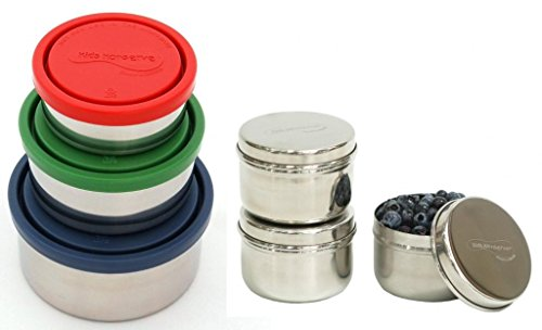 Kids Konserve Nesting Trio Stainless Steel Containers wit...