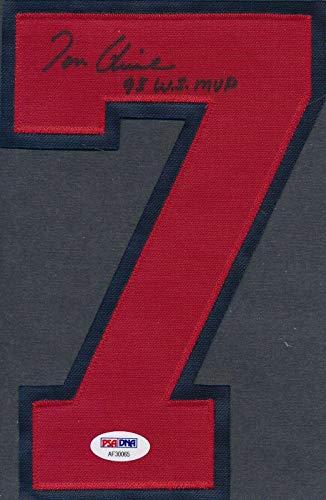 (Tom Glavine Autographed Jersey - Number AF30065 - PSA/DNA Certified - Autographed MLB Jerseys)
