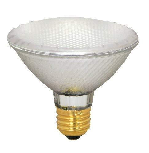 (Case of 15) Satco S4209 39 Watt (50 Watt) 500 Lumens PAR30 Short Neck Halogen Flood 42 Degrees Frosted Light Bulb, Dimmable