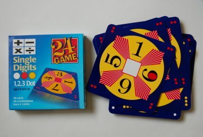 Amazon.com: 24 Game: 48 Card Deck, Single Digit cards Math Game ...