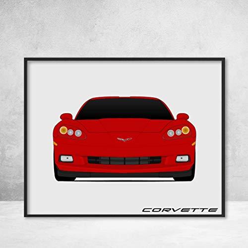 Chevy Corvette C6 Z51 2004-2013 Poster Print Wall Art Decor Handmade (Stingray Z06 Z51 Grandsport)