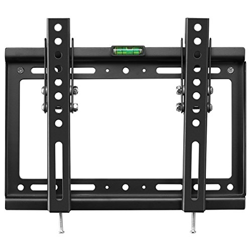 """Price comparison product image Suptek Tilt TV Wall Mount Bracket for 14''-32"""" TVs including LED, LCD and Plasma Flat Screens up to VESA 200x200mm and 55lbs and Magnetic Bubble Level MT3202"""