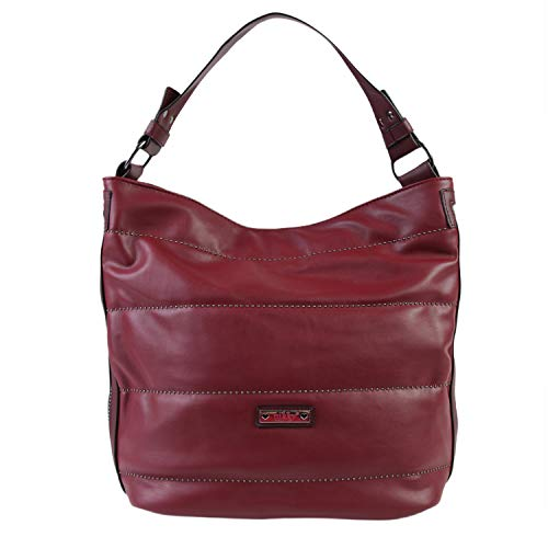 Nikky Women's Quilted Spacious Red Shoulder Bag Travel, One Size