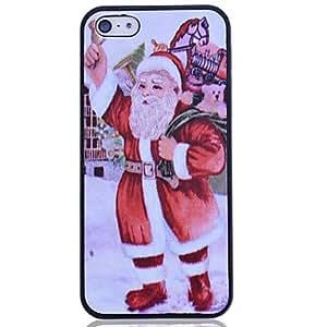 Lureme Santa Claus Pattern Printing Polycarbonate for iPhone 5/5S