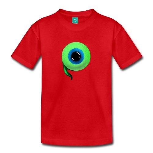 Spreadshirt Kids' Jacksepticeye Eyeball T-Shirt, red, Youth 2T