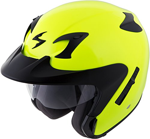 - Scorpion EXO-CT220 Street Motorcycle Helmet (Neon, Medium)