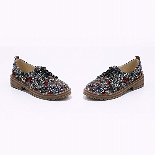 Latasa - Zapatos Oxford Con Cordones, Estampados, Para Mujer, Blanco (color Principal)