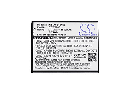 Archos Replacement Battery (Cameron Sino 1550mAh Li-ion High-Capacity Replacement Batteries for Archos 45 Helium 4G, 45b Helium 4g, 50c Neon, fits Archos AC300CA, TBW5986)