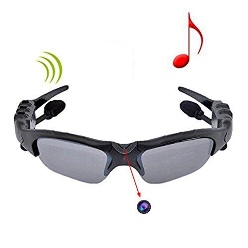 ETTG Sunglasses Camera Sport Glasses, eTTgear 4 in 1 MP3 Player Video Recorder Camcorder Sunglasses Support Micro SD Card HD DVR Built-in Memory (Gray) by ETTG