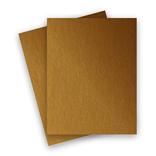 Metallic Antique Gold 8-1/2-x-11 Lightweight Multi-use Paper 25-pk - PaperPapers 120 GSM (81lb Text) Letter size Everyday Metallic Paper - Professionals, Designers, Crafters and DIY Projects ()