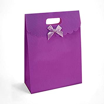 Amazon.com: Cartón Morado Tab parte superior bolsas de ...