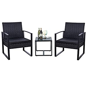 4111XGLWl-L._SS300_ 100+ Black Wicker Patio Furniture Sets For 2020