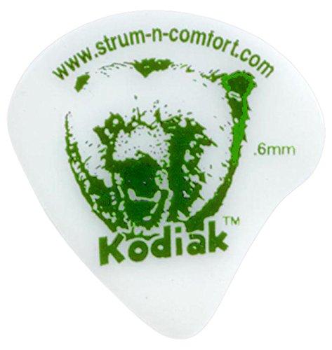 Strum-N-Comfort SNC-K/T/6 Kodiak 0.65mm Thin Delrin Polymer Flat Picks in a Six (Polymer Guitar Picks)