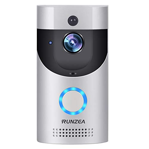 WiFi Smart Video Doorbell,EwiseeLive Wireless Door Bell Smart home 720P HD Wifi Camera Security with Two-Way Talk & Video,PIR Motion Detection, Night Vision for iOS Android Google (Silver)