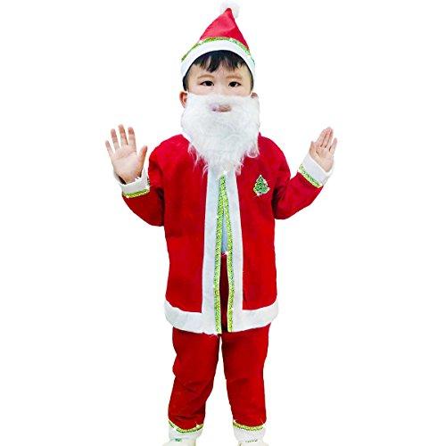 Leeau New Shop Big Sale Child Santa Suit,Christmas Costume For Boys,Santa Claus Suit For Kids