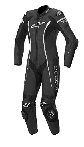Alpinestars Stella Missile Leather Motorcycle Riding Suit (Tech Air Compatible) (40, 12-Black -