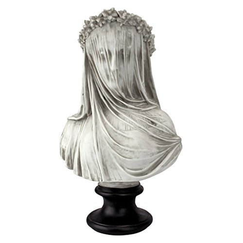 Bust Garden Statue - Design Toscano The Veiled Maiden Sculptural Bust